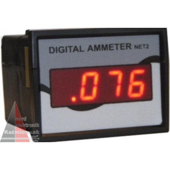 Ampermeter panelový - číslicový 1,999A;19,9mA;1,99mA