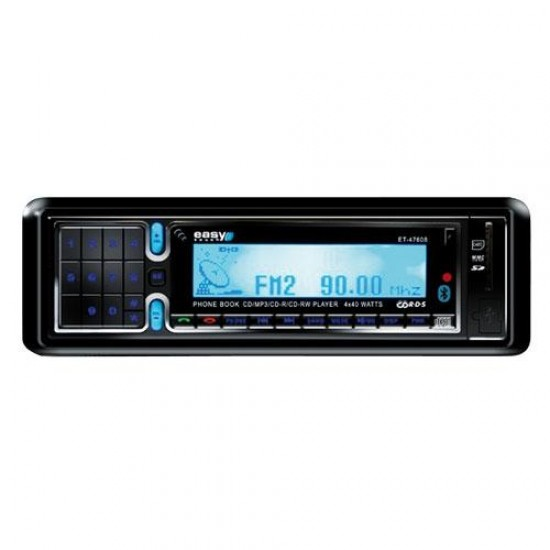 Autorádio EC-47608 BLUE (CD/MP3/USB/RDS/BLUETOOTH/SD/dál.ovl.)