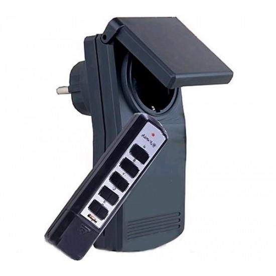 Dialkovo ovladana zásuvka 1x+5-kanál