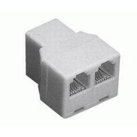 Telefónna redukcia zásuvka 8P8C- 2x zásuvka 8P8C